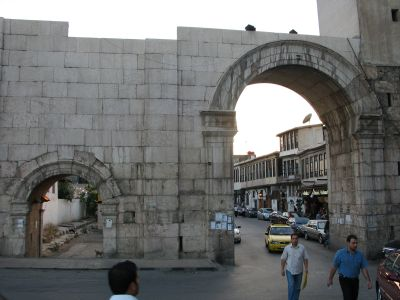 Bab Sharqi and view into Straight Street