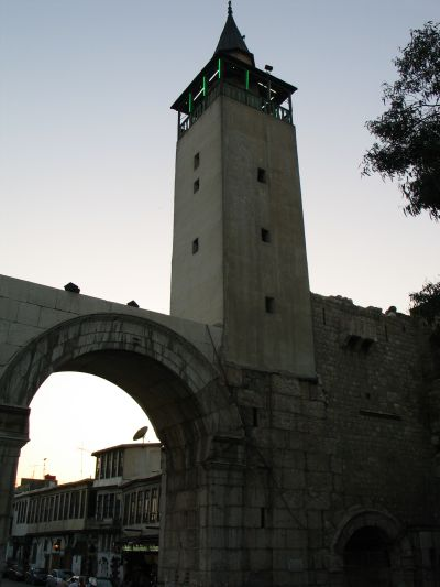 Bab Sharqi with 13th century minaret