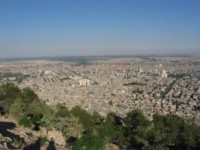 Omayyad Mosque from Jebel Qassioun