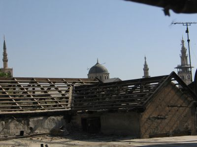 Omayyad Mosque among the roofs
