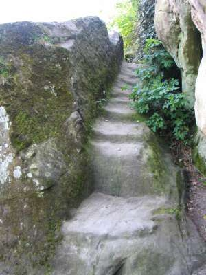 stairs onto grave